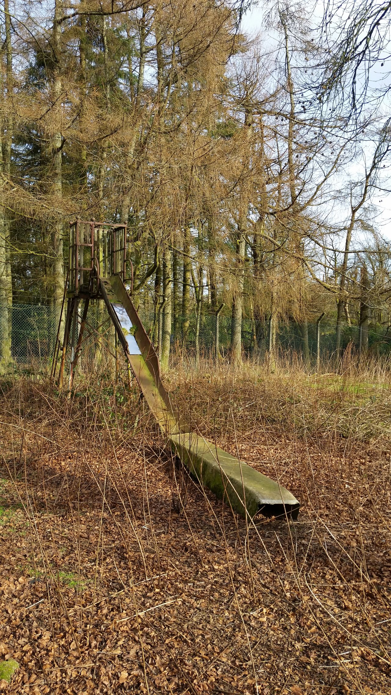Nature No People Outdoors Beauty In Nature Abandoned & Derelict Abondoned Places Playground Chute