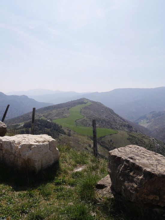 Barre Des Cévennes Occitanie Mountain Landscape Nature Sky Beauty In Nature Tranquility Scenics Non-urban Scene Grass Tranquil Scene No People Day Outdoors