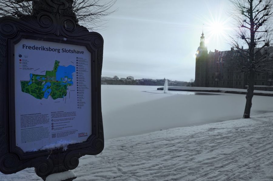 A winterday at the castle Cold Temperature Hillerød Frederiksborg Slot Winter Castle