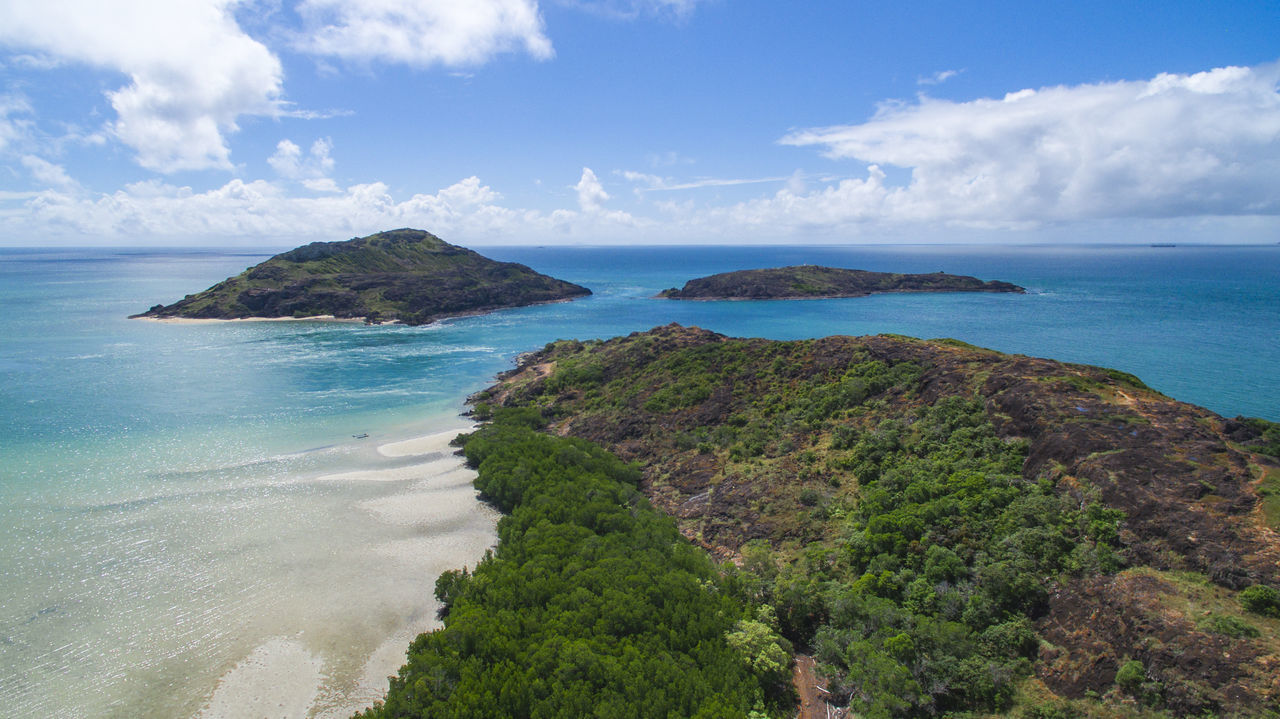 Australia Beach Cape York Cloud - Sky Coastline Day Drone  Holiday Horizon Over Water Idyllic Island Landscape Nature No People Outdoors Queensland Scenics Sea Social Issues Travel Destinations Tropical Climate Vacations