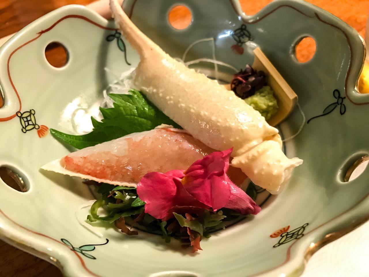 Crab Sashimi Japanese Food Japanese Crab Sashimi Dinner Sashimilovers Sashimi Dish Crab Japanese Dishes