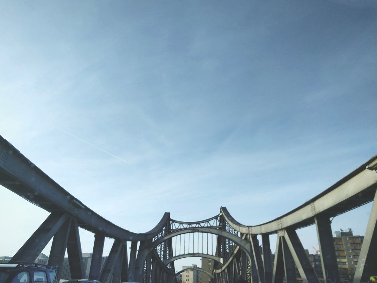 Bridge - Man Made Structure Connection Built Structure Engineering Architecture Metal Travel Destinations Outdoors Low Angle View Sky Day City No People Cityscape Travel Destination Berlin City Architecture Bridge