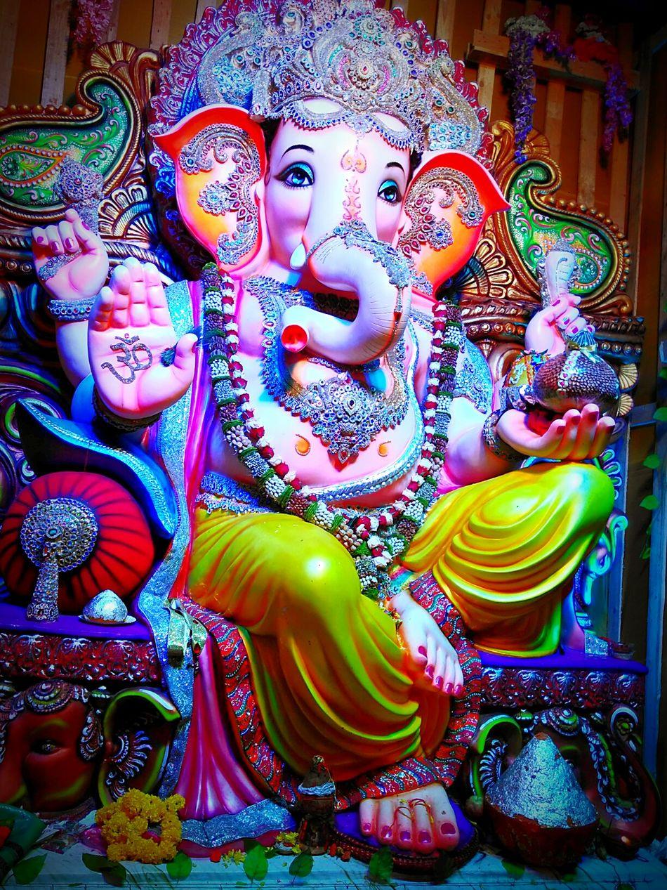 Lord Ganesha ArtWork Art, Drawing, Creativity Statue Multi Colored Ganesha Ganesha Chaturthi Ganeshfestival Ganeshutsav Ganesh Mahotsava Ganeshpuja Ganesha Portrait Human Representation Creativityganesha loaded with work Crown Jewels