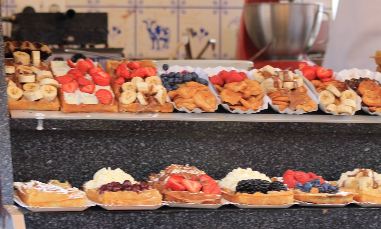 Waffles in Volendam Delicious Dessert Dutch Food Food Freshness Indulgence Ready-to-eat Street Food Sweet Temptation Waffles