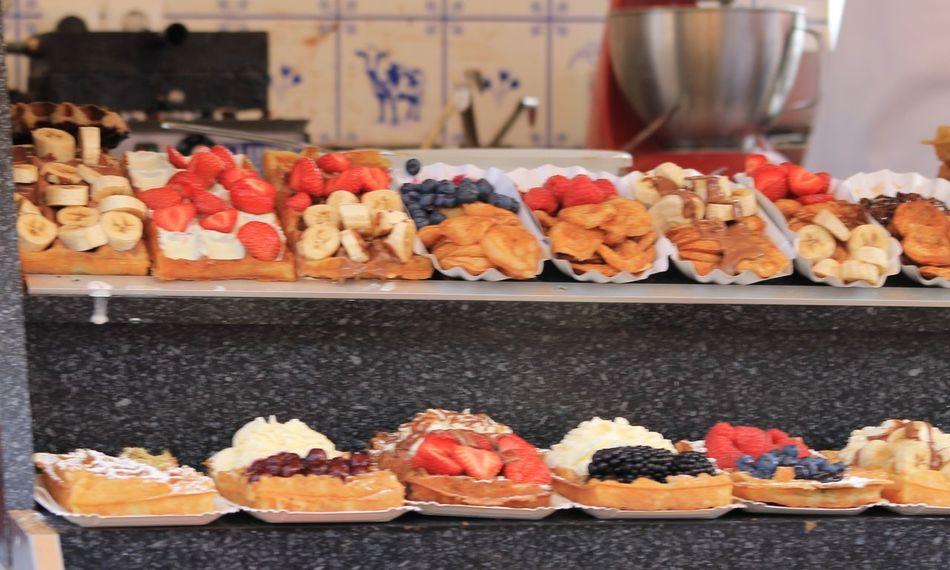 Waffles in Volendam Delicious Dessert Dutch Food Food Freshness Indulgence Ready-to-eat Street Food Sweet Temptation Waffles
