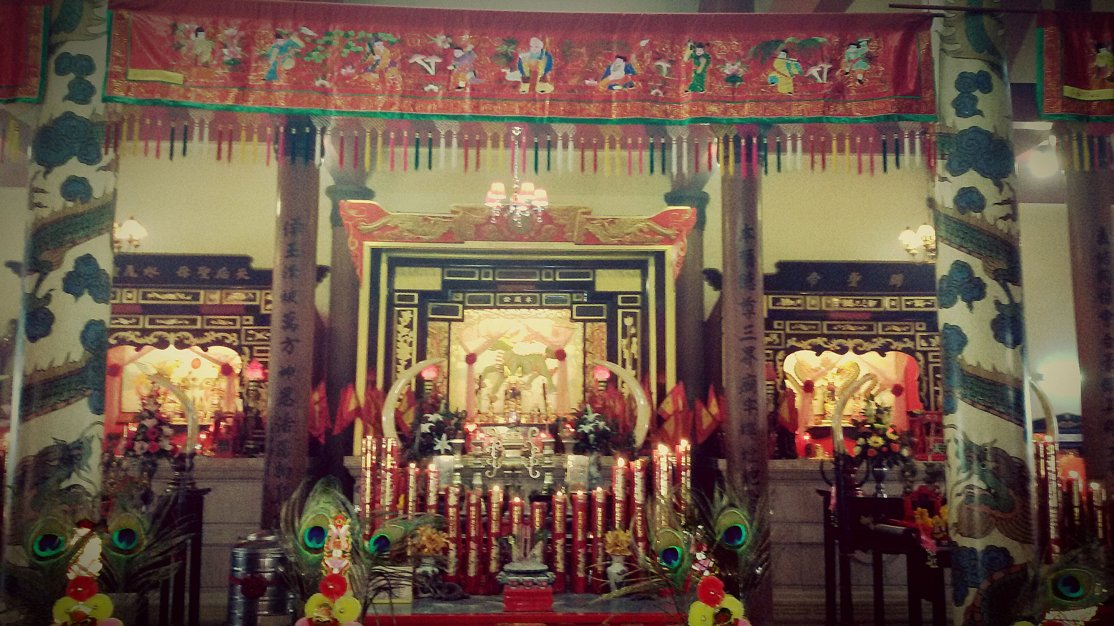 hanging, religion, art and craft, place of worship, art, spirituality, architecture, built structure, decoration, illuminated, cultures, tradition, indoors, creativity, temple - building, multi colored, retail, market, store, for sale