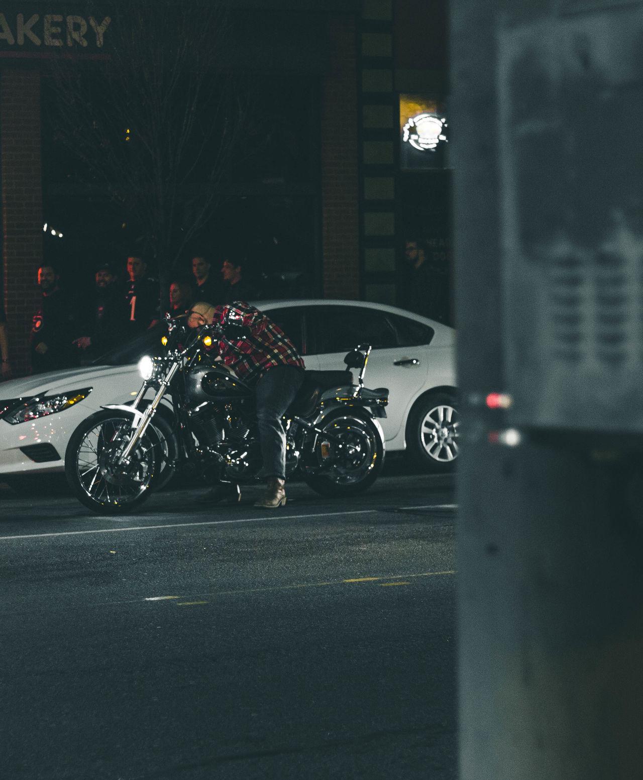 Agameoftones Cars City Grimey Illuminated Light Motorcycle Night Outdoors Rooftop Skyline Street Streetphotography Urban