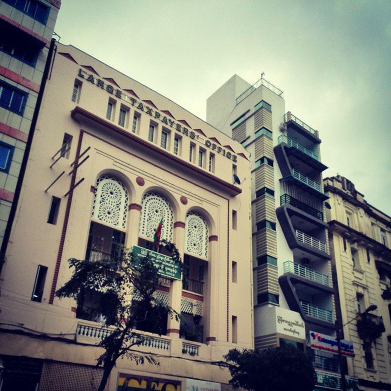 Antique Vs. Modern Architecture Yangon YangonArchitecture Downtown Pansodan AntiqueVS .Modern