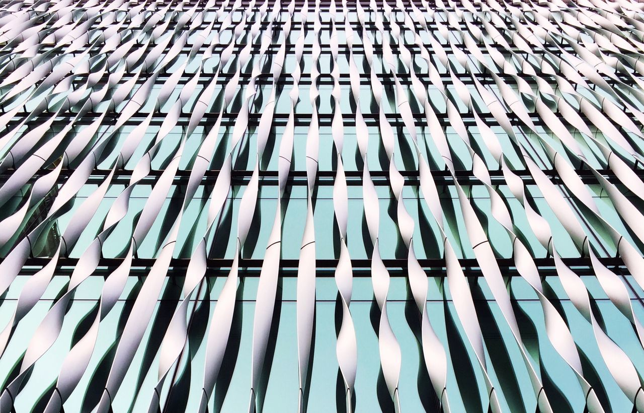 Full Frame Backgrounds Pattern Repetition Side By Side Close-up Geometric Shape In A Row Abundance Large Group Of Objects Blue Day Outdoors No People Conformity Architecture Abstract Lines Glass Reflection Modern Colors and patterns EyeEm Best Shots in London , United Kingdom MISSIONS: The Street Photographer - 2017 EyeEm Awards The Architect - 2017 EyeEm Awards