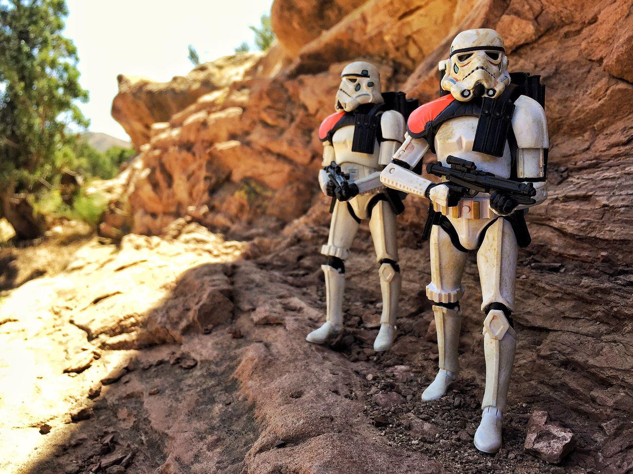 Patrolling Starwars Sandtroopers Sandtrooper