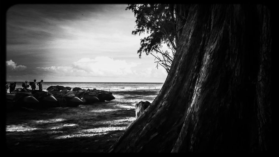 The EyeEm Facebook Cover Challenge Black&white Monochrome Life Is A Beach