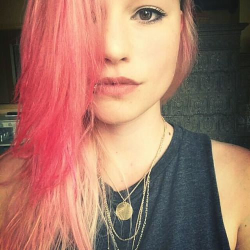 Jep I know, it's pink ^^ That's Me Pink Funky Hello World Looking For Trouble Selfmade Not Shy !  Looking ınto The Future