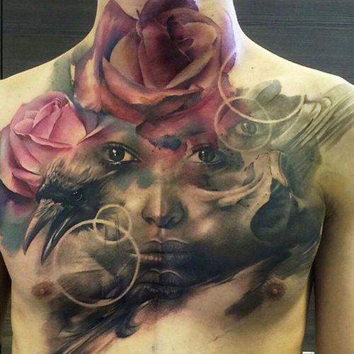 Tattoos Color Portrait Tattoo People