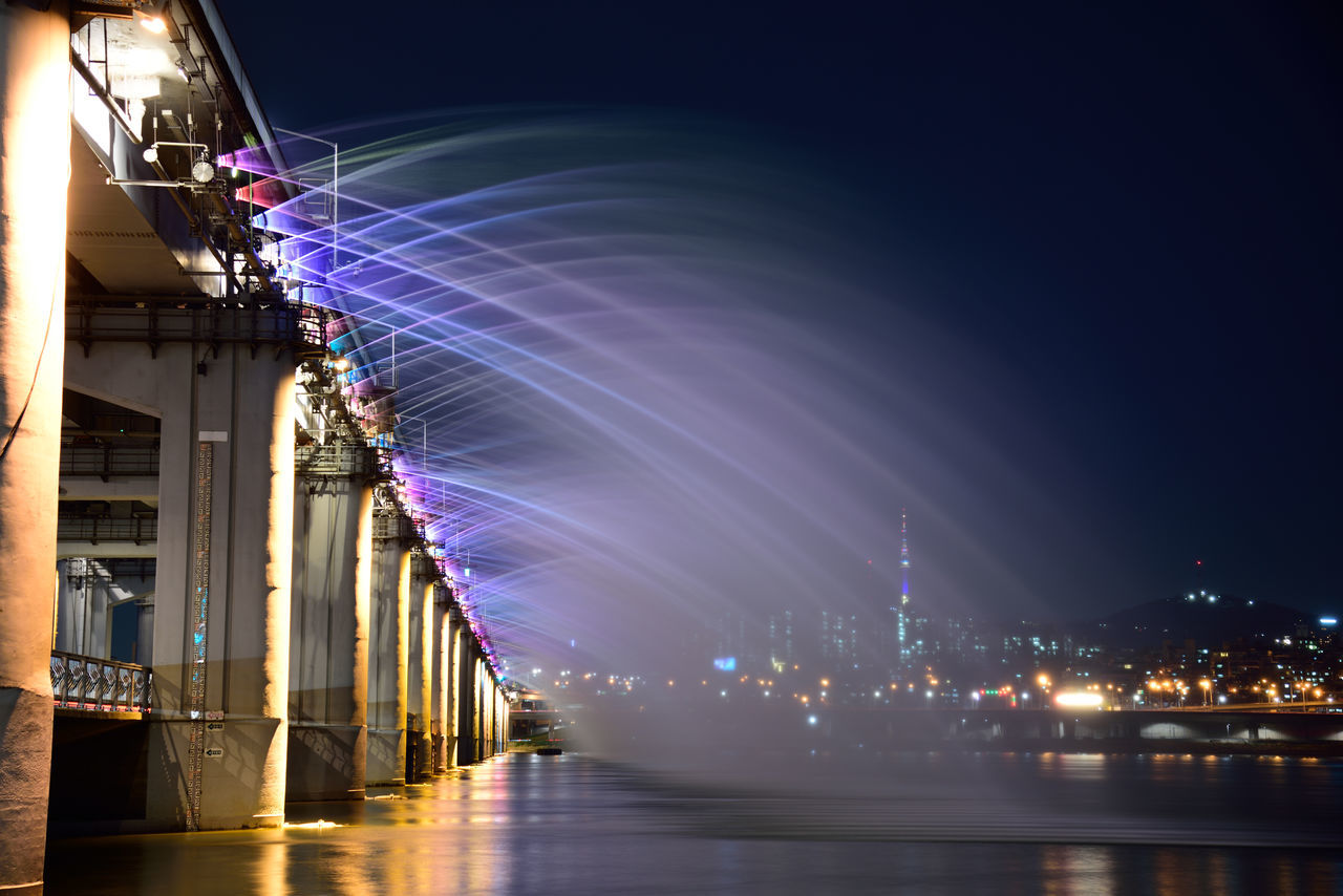 Architecture Building Exterior Built Structure City Illuminated Night No People Outdoors River Sky Travel Destinations Water Waterfront