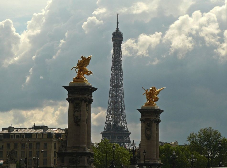 Paris Architectural Column Architecture Building Exterior Built Structure City Cloud - Sky Cultures Day Fountain Monument No People Outdoors Politics And Government Representing Sky Statue Tower Travel Travel Destinations