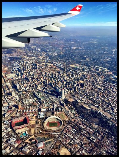 La Terre Vue Du Ciel Landing Johannesburg South Africa Swissair Clear Sky Aerial Shot Aerial View Aerial Photography Africa Amazing View