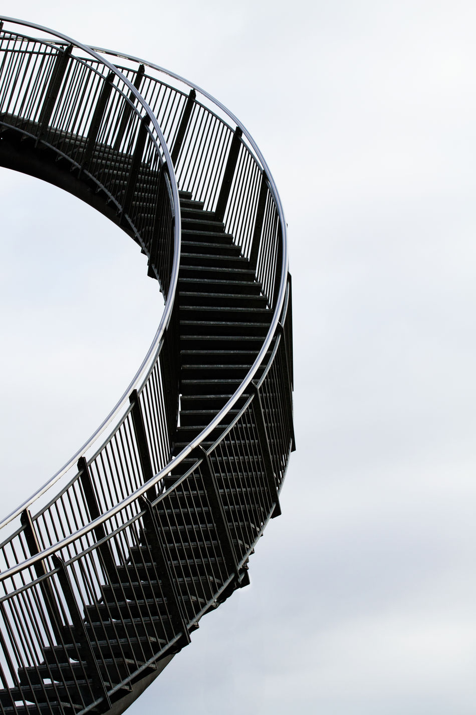 Architecture Built Structure Close-up Cloud - Sky Curved  Day In And Out Low Angle View Metal Neutral Background No People Outdoors Sky Stairs Stairway Stairway To Heaven Unusual