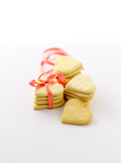 Cookies Baked Baking Biscuits Butter Cookies Cookies Cut Out Food Food Photography Foodphotography Heart Biscuits Heart Cookies Hello World No People Ready-to-eat Red Ribbon Snack Sweet Teatime Temptation Valentine White Background Yummy