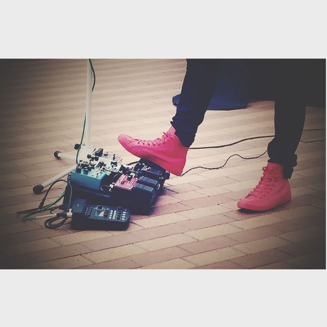 Making some music with some fancy footwork ...... Red Shoes Redshoes Converse Ehx MXR Music Life Looper Strymon Earthquake Devices Footwork From My Point Of View EyeEm Best Shots