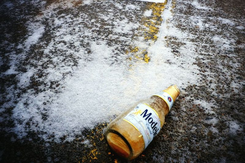 cold beer Ice Cold Beer  Freezing Cold Cerveza Parking Lot Found Object