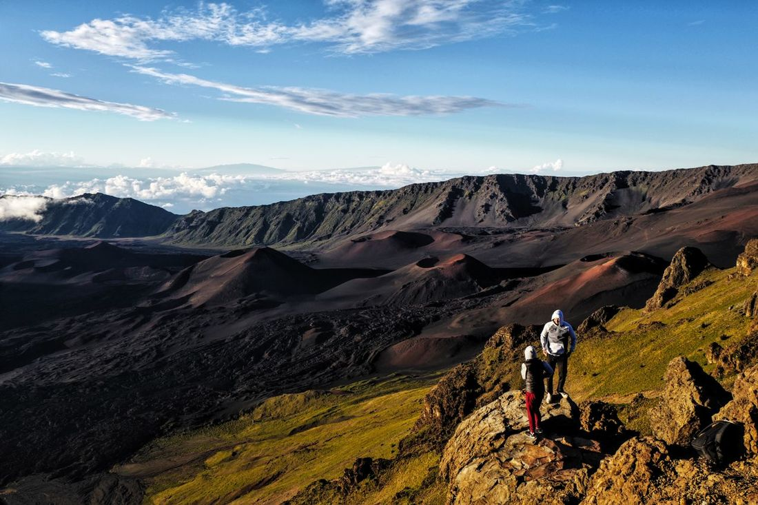 HAWAII MAUI Adventure Beauty In Nature Cloud Cloud - Sky Day Full Length Geology Hiking Idyllic Landscape Leisure Activity Lifestyles Mountain Mountain Range Nature Non-urban Scene Outdoors Physical Geography Remote Scenics Sky Tourism Tranquil Scene Tranquility Travel Destinations