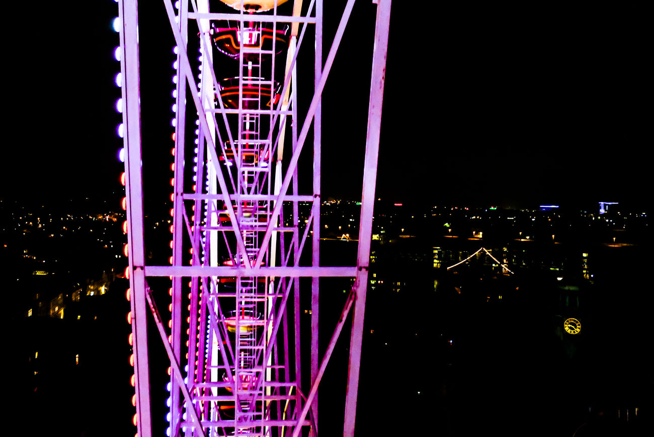 Scared of hights? Aerial Aerial View Built Structure City Ferris Wheel Fresh On Eyeem  FUJIFILM X-T2 Illuminated Lübeck Lübeck, Germany Night Night Lights Nightphotography No People Outdoors Reflection Riesenrad Sky Urban Urban Geometry Finding New Frontiers Traveling Home For The Holidays