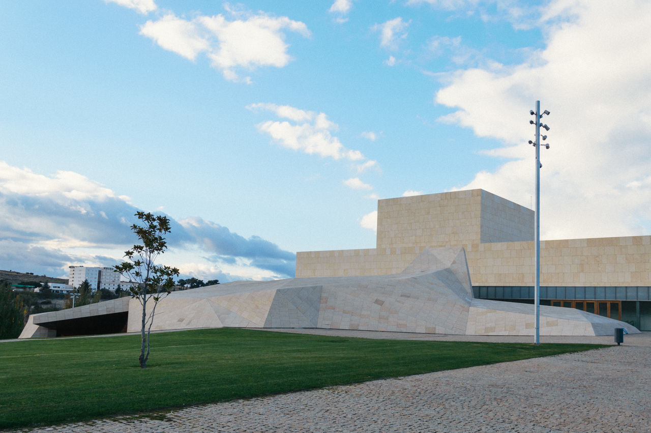 Congress and exhibitions center in Avila Architecture Architecture Avila Building Exterior Built Structure City Cloud - Sky Congress Contemporary Day Design European  Grass Manga Modern Modern Architecture Nature No People Outdoors Scenics Sky SPAIN Stone Material Sunset Urban