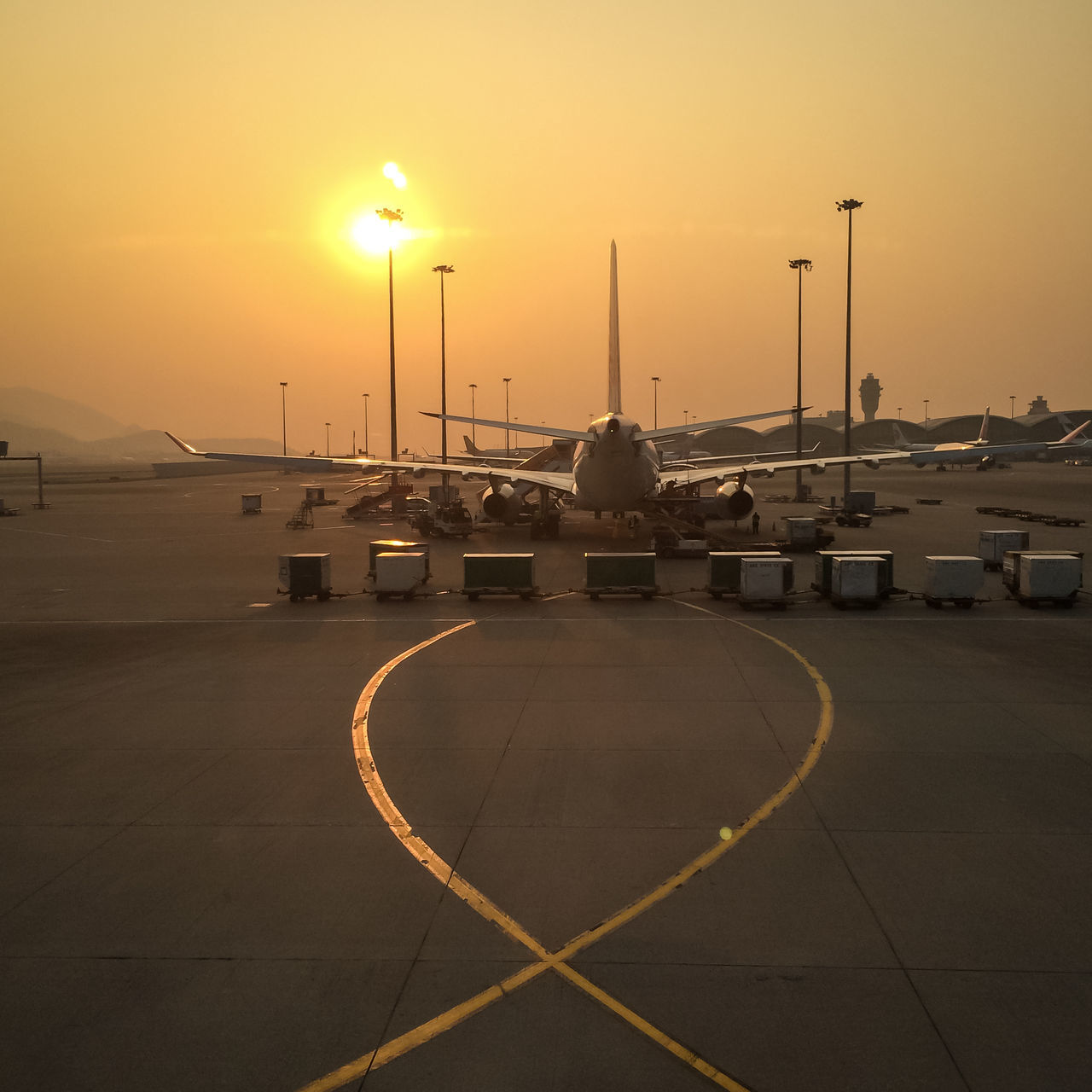 Aeroplane Aeroport Aircraft Airport Day End Of The Day Evening Evening Glow Go Away Journey Lines Nature No People Outdoors Plane Sky Sun Sunset Transportation Travel Traveling Vacation Vacation Time
