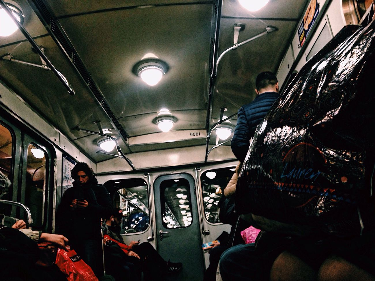 Vehicle Interior Public Transportation Mode Of Transport Travel Subway Train Passenger Train - Vehicle Indoors  Commuter Lifestyles Journey Real People Sitting Men Commuter Train Adults Only Illuminated One Person People