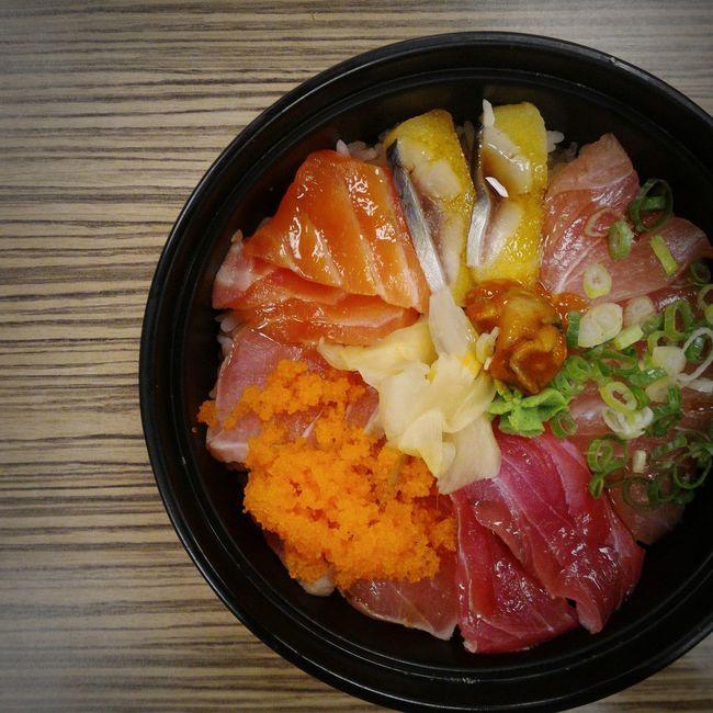 Sashimi Dinner Sashimilovers Foodie Foodporn Food Good 生魚片蓋飯 生魚片
