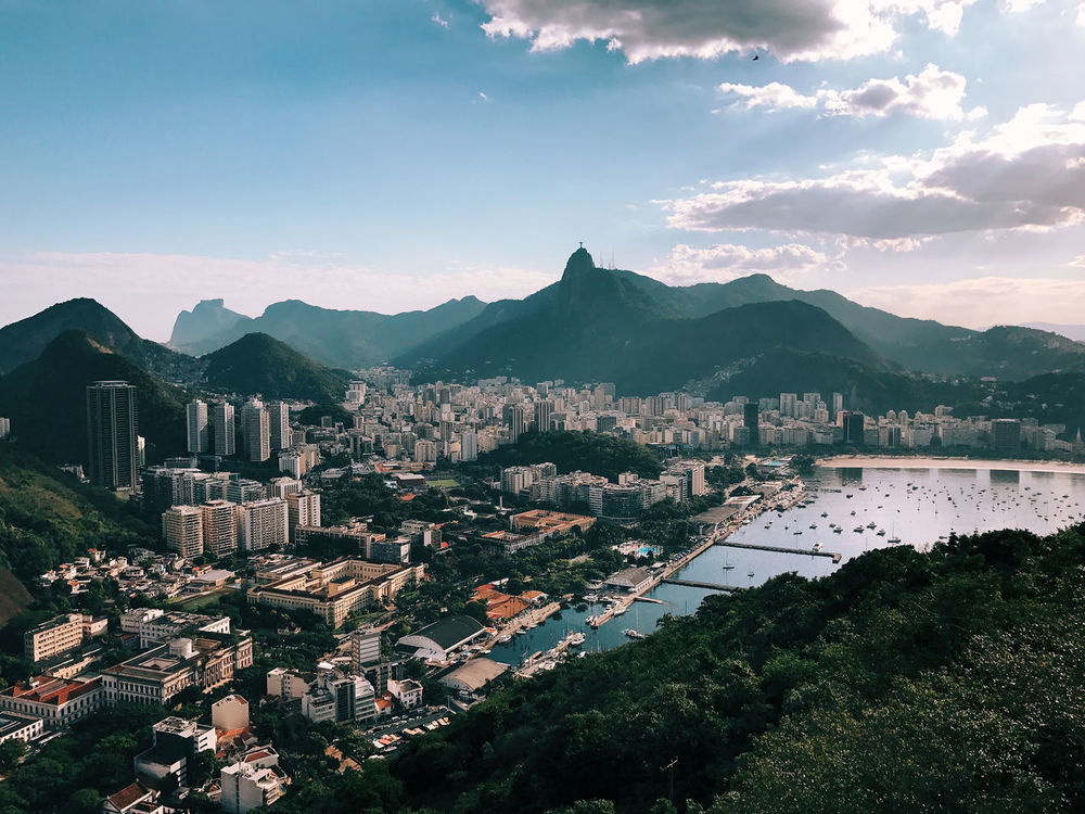 Aerial View Beach Beaches Beauty In Nature Brazil Christ The Redeemer Cityscape Mountain Nature Outdoors Rio De Janeiro Sky Sugarloaf Sugarloafmountain Summer Travel Travel Destinations