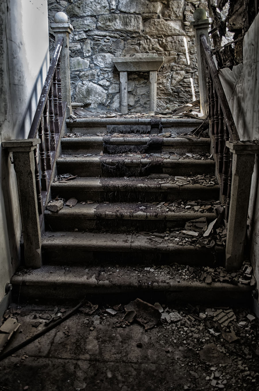 Architecture Boiro Built Structure Day Indoors  No People Pazo Goianes Staircase Stairs Steps Steps And Staircases