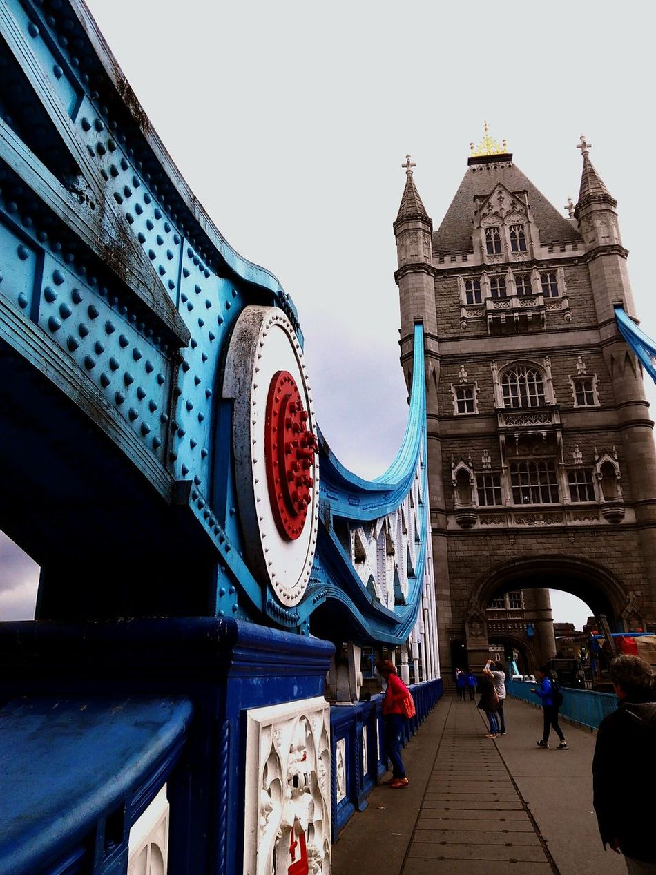 The Tower Bridge London Bridge Blue White And Red Tower