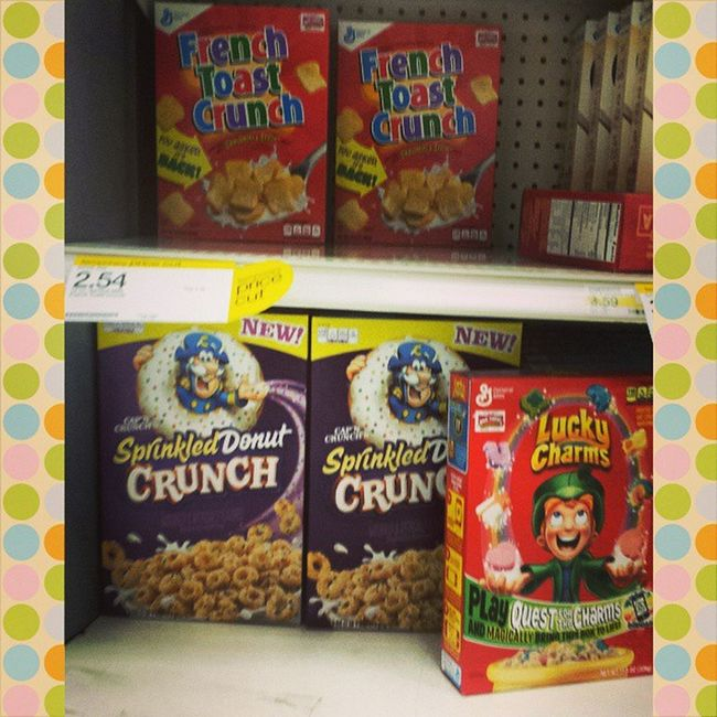 Target Supertarget finally had them in stock. Frenchtoastcrunch on deck with Sprinkleddonutcrunch along for the ride Pourupabowl