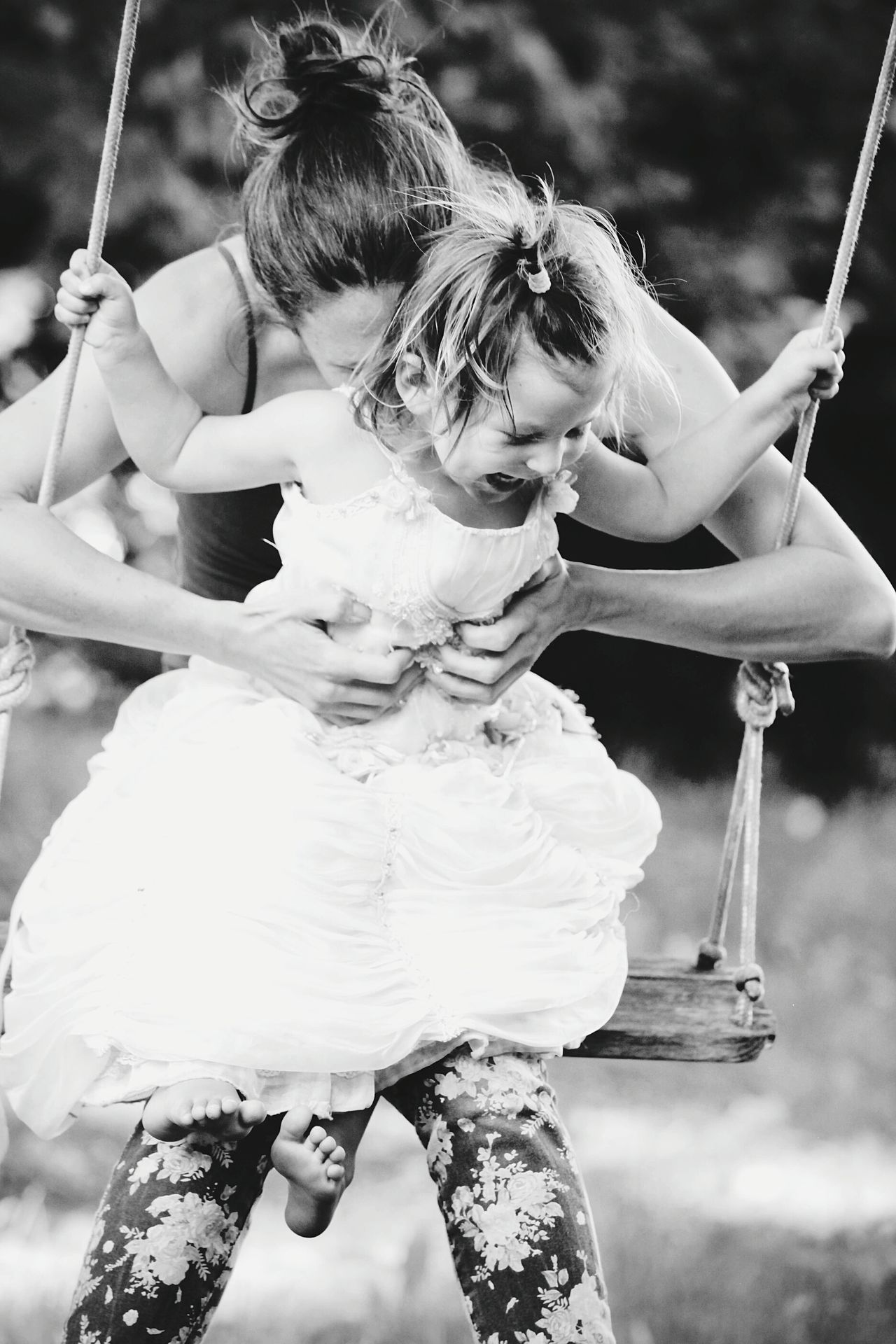 Mother Mother & Daughter Mother And Child Motherhood Two People Smiling Fun Cheerful Togetherness Bonding Leisure Activity Enjoyment Swing People Playing Enjoying Life Family Black & White Black And White Blackandwhite Child Happiness EyeEmNewHere