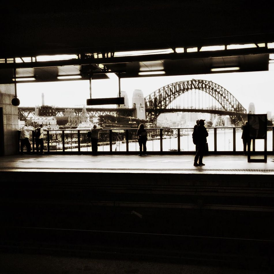 Waiting for a train - Circular Quay, Sydney Cityscape Cityscapes Streetphotography Streetphoto_bw Blackandwhite Bnw