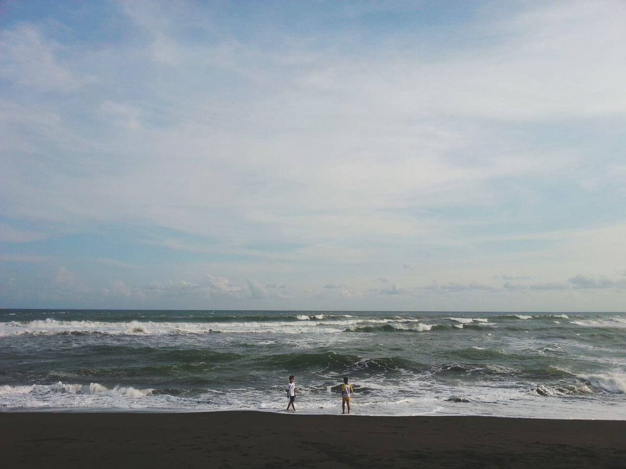 boys and waves : today we learn, tomorrow we'll surf Wave Seashore Photography SeashoreWalk Friendship First Eyeem Photo