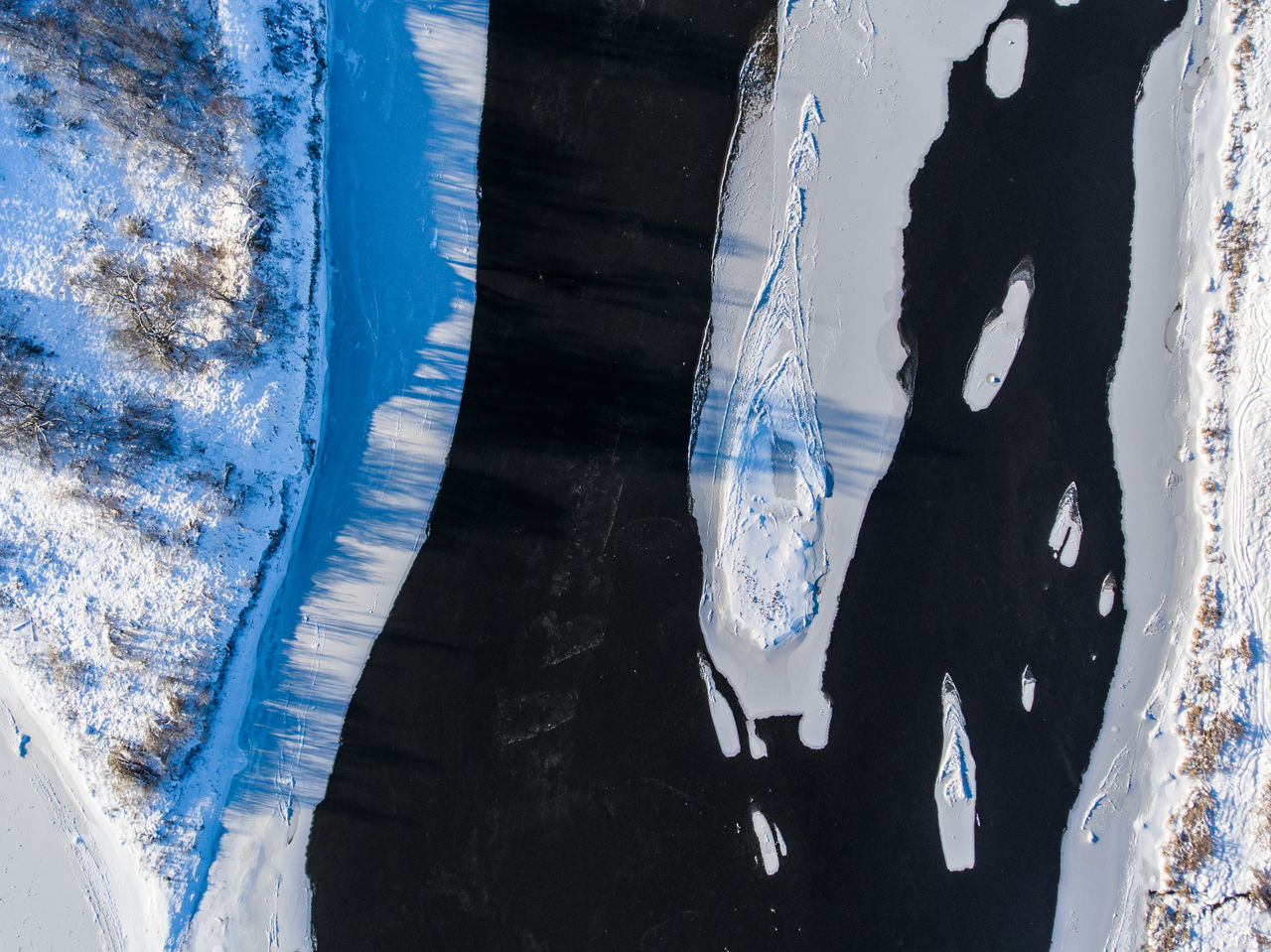 Abstract Aerial Aerial Shot Aerial View Aerialphotography Backgrounds Blue Close-up Day Dji Frozen Full Frame Indoors  Multi-layered Effect No People River Snow Water Winter
