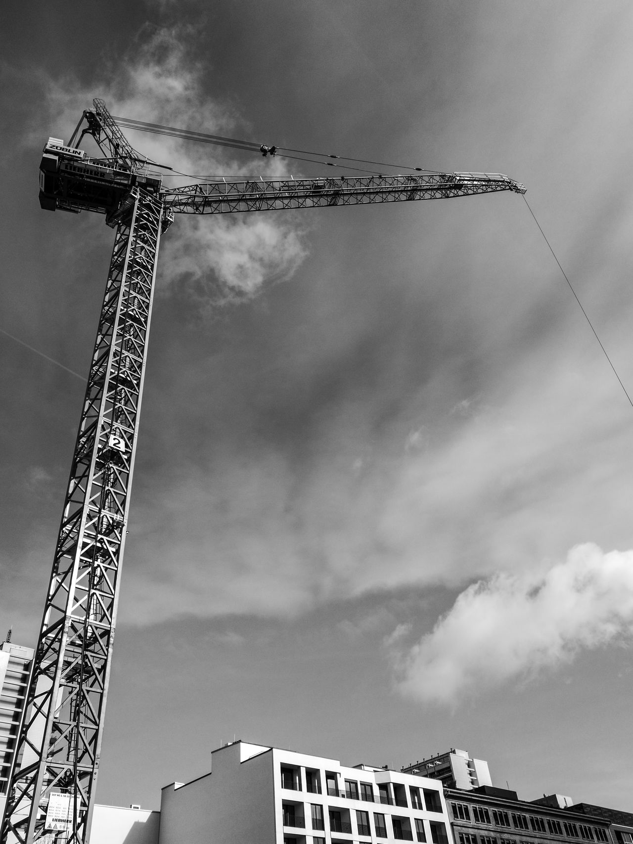 Architecture Built Structure Cloud - Sky Construction Construction Site Crane Crane - Construction Machinery Day Development Improvement Industrial Equipment Low Angle View No People Outdoors Sky