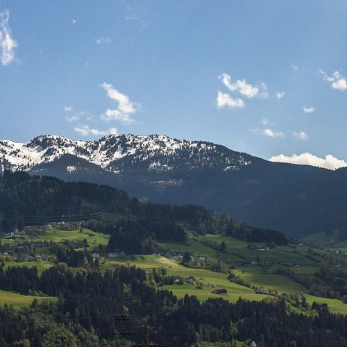 Tirol  Austria Innsbruk Landscape alps mountains bluesky