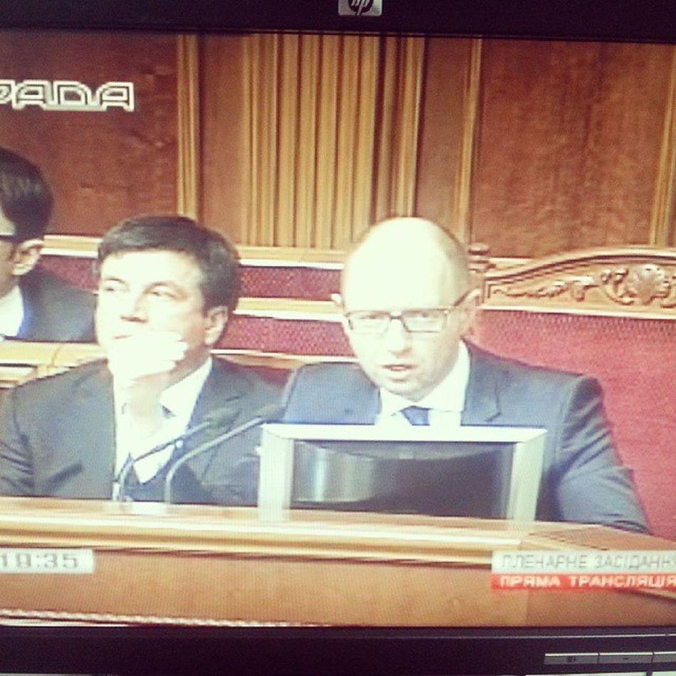 Arseniy Yatsenyk Presenting Candidates of Ministres of Ukraine in Rada