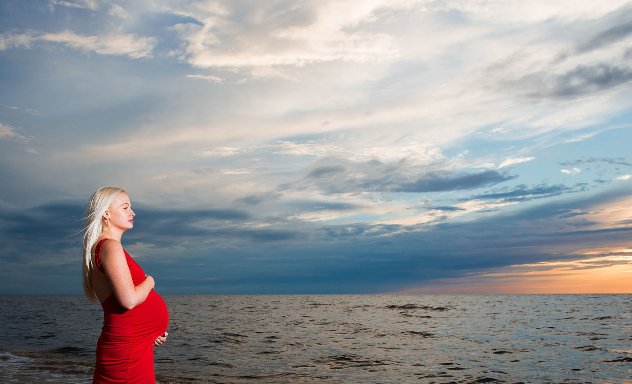 pregnant woman and Baltic sea Adult Beach Beautiful Woman Beauty In Nature Blond Hair Cloud - Sky Horizon Over Water Lifestyles Nature People Pregnancy Pregnant Pregnant Belly  Pregnant Phtography Pregnant Woman Real People Red Dress Scenics Sea Sky Standing Sunset Tranquil Scene Water Young Women