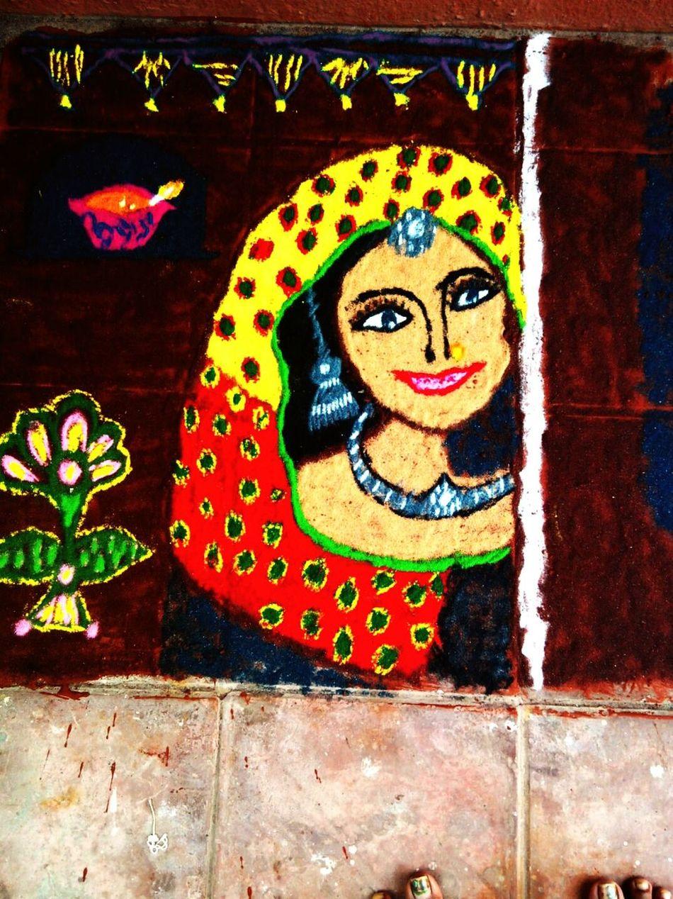 Taking Photos Check This Out Rangoli Preparations Rangolibyme MyRangoliArts Colorful Rangoli. Indian Women