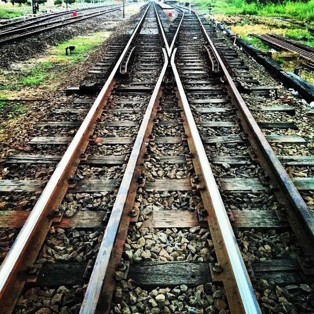 railway Railroad Track Rail Transportation Transportation Outdoors Railroad Tie No People Day Nature Daily_crossing Colorsplash Railwaystation Railways_of_our_world Railway Train_worldwide Train_nerds First Eyeem Photo FirstEyeEmPic
