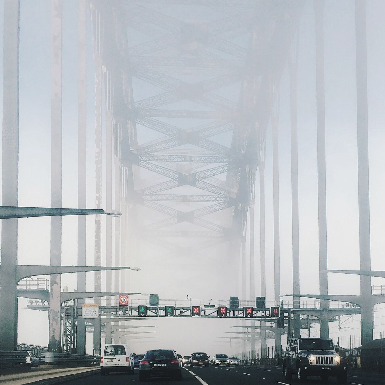 Sydney Harbour Bridge in fog Don't Be Square Eyem Best Shots VSCO Discover Your City