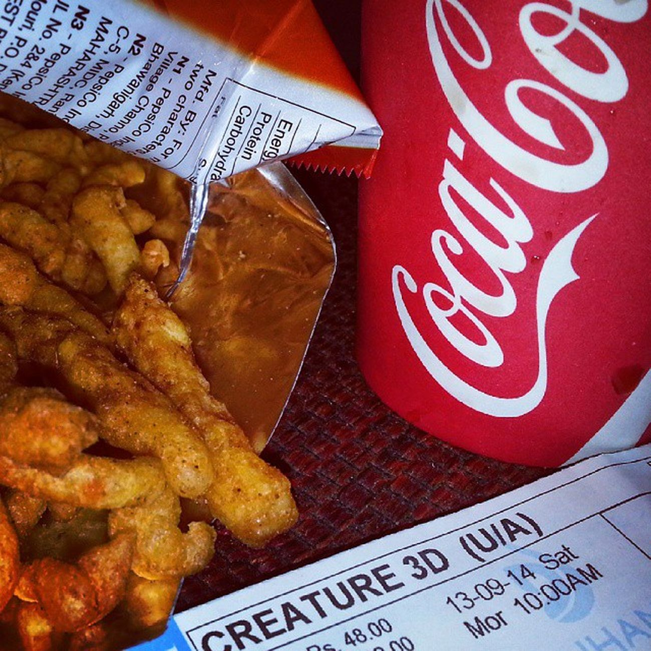 Kurkure Coca -Cola Interval Watching CREATURE 3D Ssuppeerrbb Movie Very Rainy Weather Evening Click Edit Edited PicOfTheDay ... ,,,