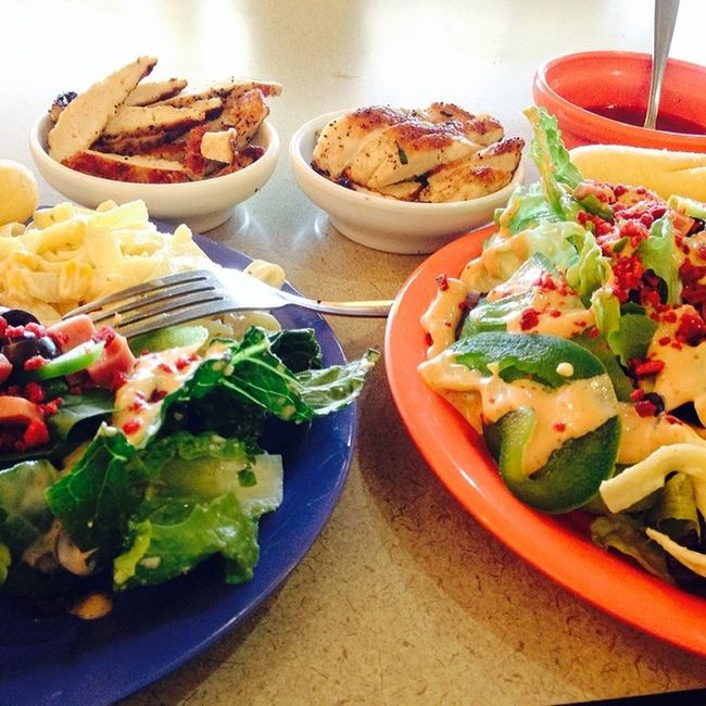 Salad date with my love ? ? Yum Salad Supersalad Healthymeal onpoint