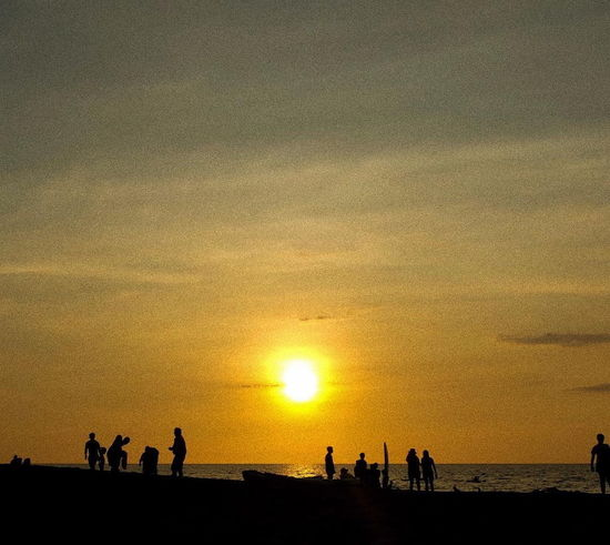 Beach Horizon Over Water Landscape Leisure Activity Nature Outdoors People Silhouette Sun Sunset Surfing Travel Destinations
