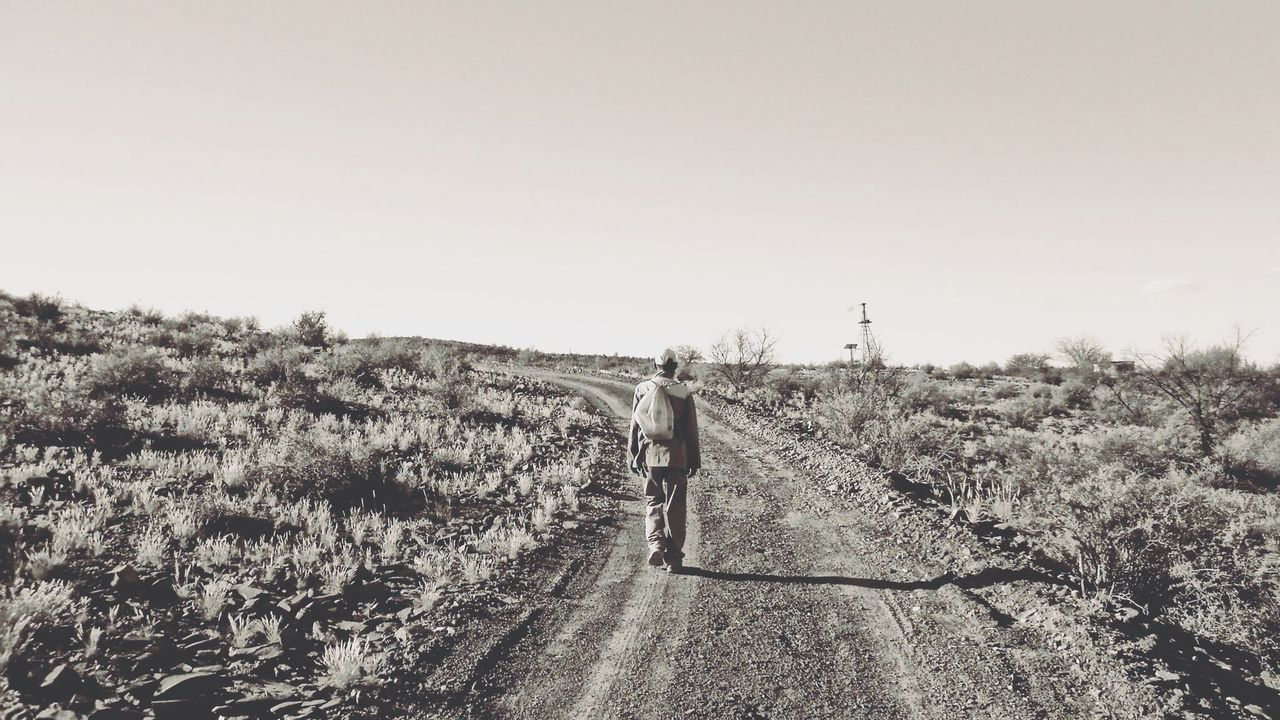 Sapeople South Africa People Photography Karoo EyeEmNewHere A man walks home from work on that dusty gravel road in the Karoo