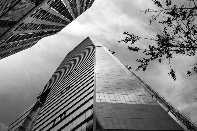 #Black And White. #NewYork  #streetphotography #travel #trip #Usa Architecture City City Life Cloud - Sky Cloudy Sky Skyscraper